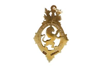 Lot 1105 - RANGERS F.C. INTEREST - SCOTTISH CUP WINNERS GOLD MEDAL 1934