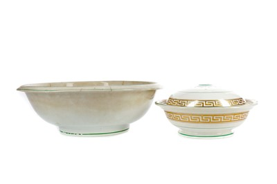 Lot 1023 - A BELLEEK FIRST PERIOD EARTHENWARE BOWL AND ANOTHER