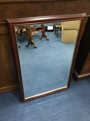 Lot 51 - A WALL MIRROR AND TWO FRAMED PRINTS