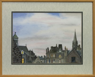 Lot 512 - WINTER MORNING, HOLY CORNER, A WATERCOLOUR BY MARGARET FLANNIGAN