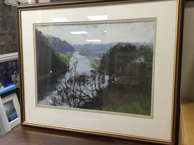 Lot 91 - A LOT OF VARIOUS PICTURES COMPRISING WATERCOLOURS AND OIL EXAMPLES