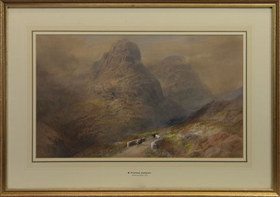 Lot 516 - GLENCOE AFTER RAIN, A WATERCOLOUR BY M FREEMAN KEMPSON