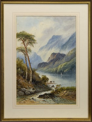 Lot 517 - LOCH LOMOND, A WATERCOLOUR BY EDWIN ST JOHN