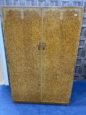 Lot 67 - AN ART DECO SCUMBLED WALNUT BEDROOM SUITE