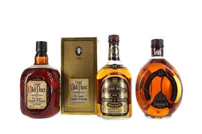 Lot 304 - CHIVAS REGAL 12 YEARS OLD, OLD PARR, DIMPLE 15 YEARS OLD