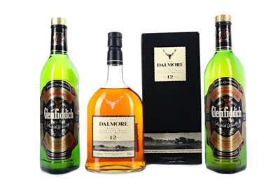 Lot 305 - DALMORE 12 YEARS OLD AND TWO GLENFIDDICH SPECIAL OLD RESERVE