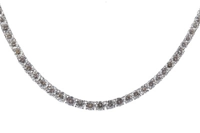 Lot 378 - A DIAMOND RIVIERE NECKLACE