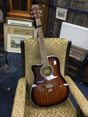Lot 85 - A WESTFIELD ACOUSTIC GUITAR AND GUITAR ACCESSORIES