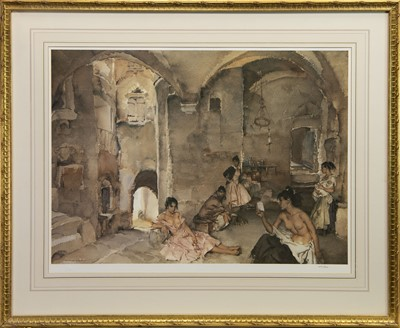 Lot 520 - HARD AT WORK, A PRINT BY SIR WILLIAM RUSSELL FLINT