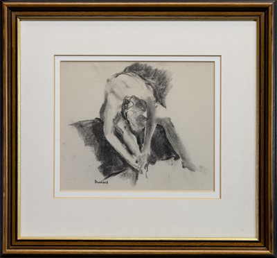 Lot 588 - BALLERINA, A PENCIL DRAWING BY MARION DRUMMOND