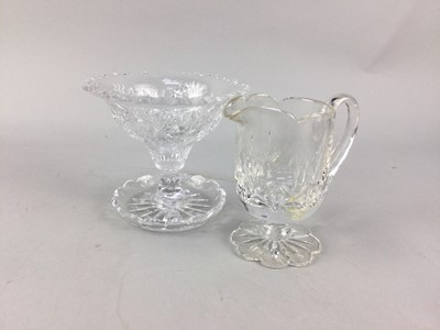 Lot 24 - A ROYAL BRIERLEY 'MUSEUM COLLECTION CRYSTAL JUG' AND OTHER GLASS WARE