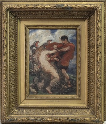 Lot 111 - AN UNTITLED OIL BY CHARLES SIMS