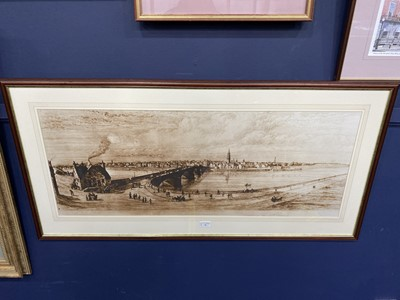 Lot 96 - A PANORAMIC VIEW OF THE CLYDE, A PRINT AFTER THE ORIGINAL