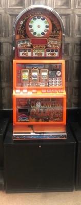 Lot 37 - A CASINO MODEL, DOME TOPPED 'CLOCKWORK ORANGES' £35 JACKPOT FRUIT MACHINE