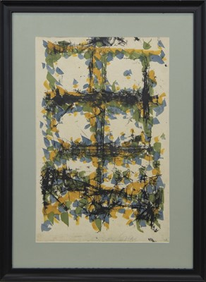 Lot 540 - AN UNTITLED MONOTYPE BY WILLIAM GEAR