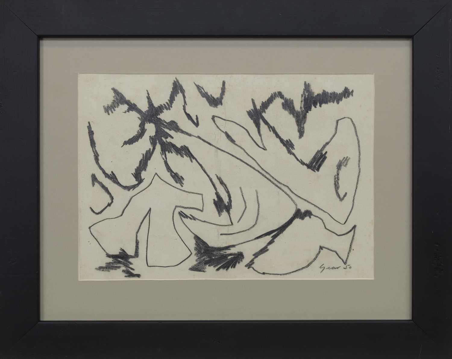 Lot 541 - AN UNTITLED PENCIL BY WILLIAM GEAR