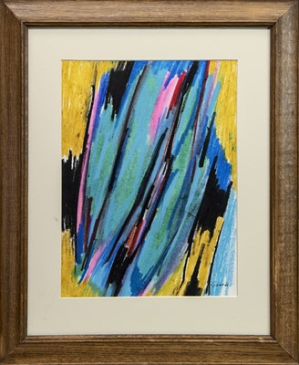 Lot 607 - AN UNTITLED PASTEL BY WILLIAM GEAR