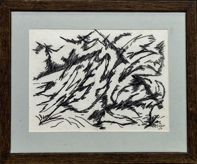 Lot 610 - AN UNTITLED GRAPHITE WORK  BY WILLIAM GEAR