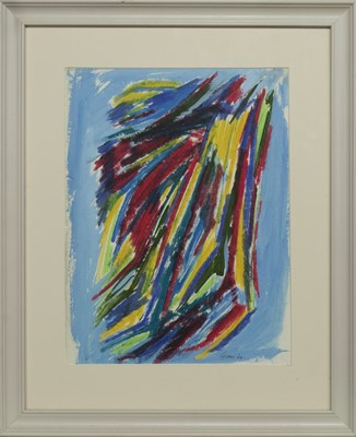 Lot 607 - AN UNTITLED MIXED MEDIA BY WILLIAM GEAR