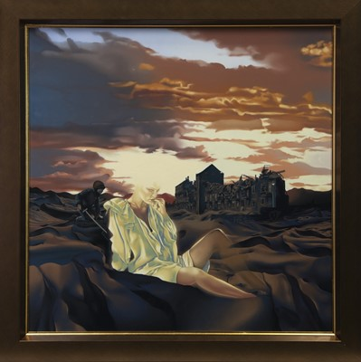 Lot 580 - THE ANGEL OF HEARTH AND HOME, AN OIL BY MALCOLM DICKSON