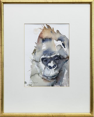 Lot 599 - ON THE LOOKOUT, A WATERCOLOUR BY CLAIRE HARKESS