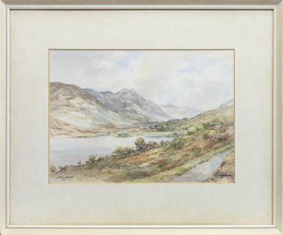 Lot 44 - LOCH DOINE AND STOB CHON, A WATERCOLOUR BY WATSON WOOD