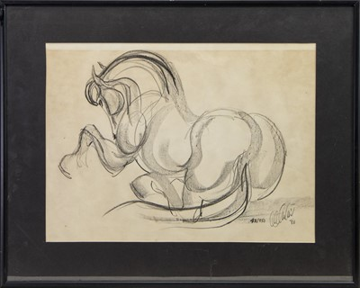 Lot 134 - HORSE SKETCH, FROM THE CIRCLE OF SUNIL DAS