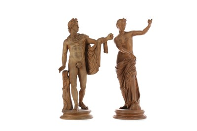 Lot 464 - A PAIR OF LATE VICTORIAN TERRACOTTA FIGURES AFTER THE ANTIQUE
