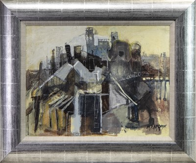Lot 643 - ROOFTOPS, AN OIL BY MHAIRI MCGREGOR