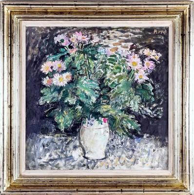 Lot 586 - FLOWER PIECE, AN OIL BY JOHN BOYD