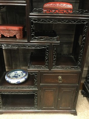 Lot 752 - A CHINESE STAGE CABINET