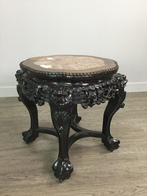 Lot 952 - A CHINESE IRONWOOD LOW TABLE
