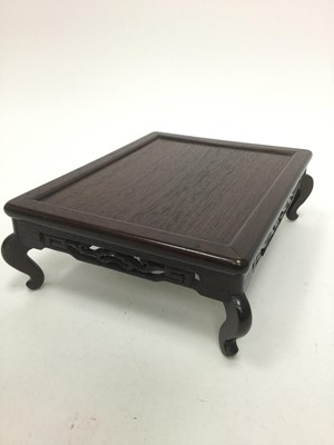 Lot 758 - A CHINESE CARVED WOOD STAND