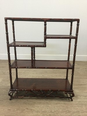Lot 946 - A CHINESE HARDWOOD DISPLAY STAND