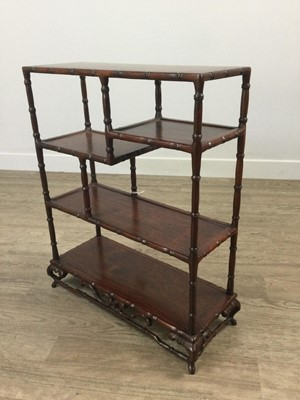Lot 762 - A CHINESE HARDWOOD DISPLAY STAND