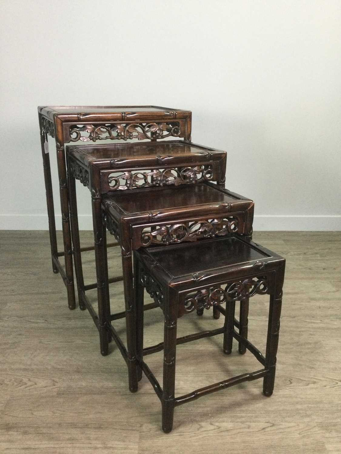 Lot 763 - A CHINESE NEST OF FOUR TABLES