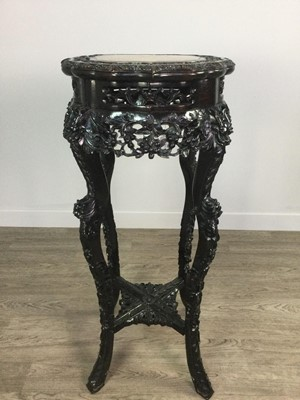 Lot 770 - A CHINESE IRONWOOD TABLE