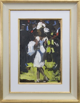 Lot 561 - AT ASCOT, AN ORIGINAL OIL PAINTING BY SHERREE VALENTINE DAINES