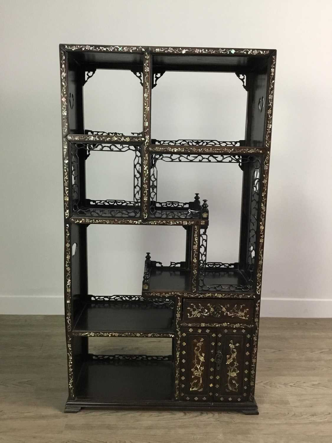 Lot 774 - A CHINESE STAGE CABINET