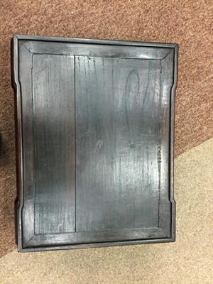 Lot 775 - A CHINESE RECTANGULAR STAND