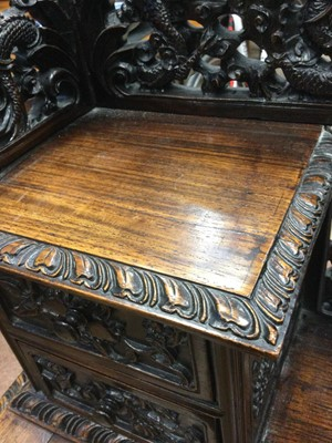 Lot 781 - AN EARLY 20TH CENTURY CHINESE HARDWOOD DAVENPORT DESK