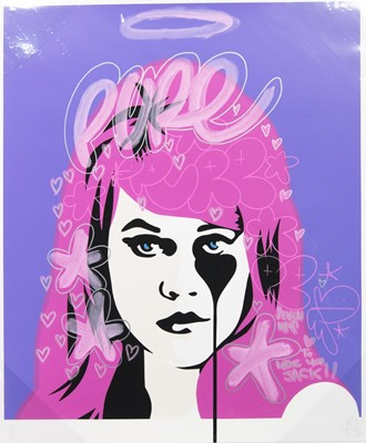 Lot 625 - JANE FONDA - SEVEN WAYS TO MAKE YOU JACK, A MIXED MEDIA BY PURE EVIL