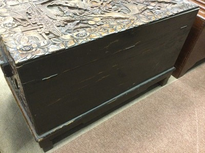 Lot 785 - AN EARLY 20TH CENTURY CHINESE CAMPHORWOOD CHEST ON STAND