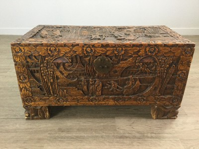 Lot 798 - AN EARLY 20TH CENTURY CHINESE CAMPHORWOOD CHEST