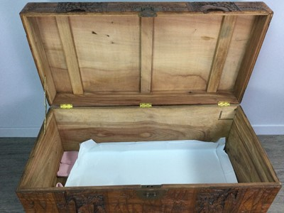 Lot 793 - A CHINESE CAMPHORWOOD BLANKET CHEST
