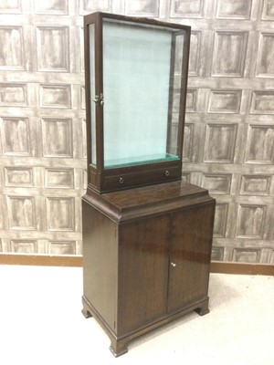 Lot 1360 - A WHYTOCK & REID MAHOGANY DISPLAY CABINET ON STAND