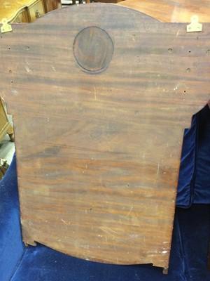 Lot 1355 - A PAIR OF ARTS & CRAFTS MAHOGANY WALL MOUNTING DISPLAY SHELVES
