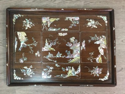 Lot 803 - A 20TH CENTURY JAPANESE WOOD TRAY