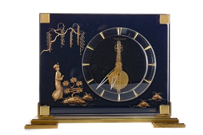 Lot 1734 - A CASED JAEGAR LE COULTRE MARINA MANTEL CLOCK