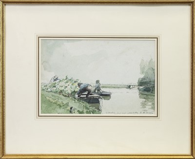 Lot 143 - OVERSHIE, ROTTERDAM, A WATERCOLOUR BY JAMES MCBEY